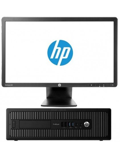 "PC HP Prodesk 600 G1 i5 3.2 ghz 4Go 500 Go +lcd 19"" Wide"