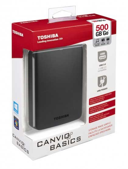 Disque Dur externe TOSHIBA 500 Go SuperSpeed USB 3.0